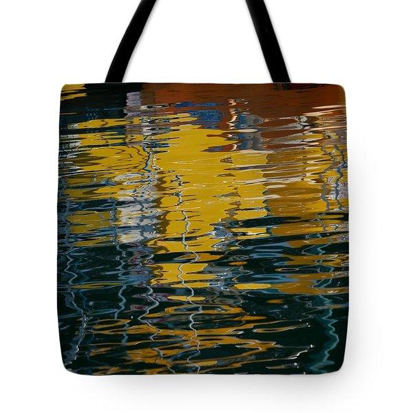 Marina Water Abstract 2 Tote Bag by Fraida Gutovich