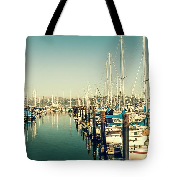 Marinaside Sausalito California Tote Bag