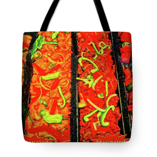Marinated 3 Tote Bag by Bruce Iorio