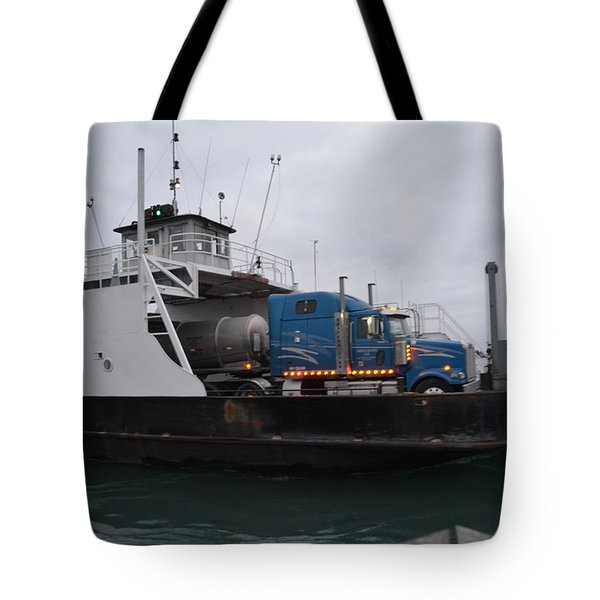 Marine City Mich Car Truck Ferry Tote Bag