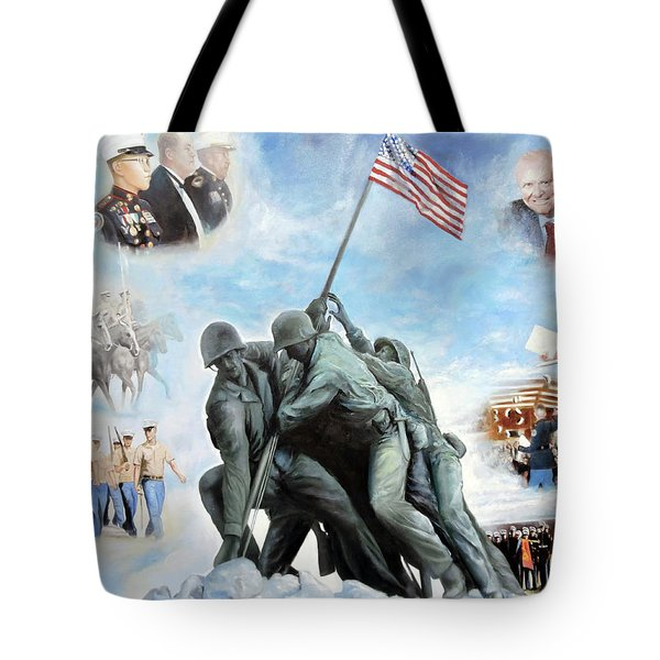 Marine Corps Art Academy Commemoration Oil Painting By Todd Krasovetz Tote Bag by Todd Krasovetz
