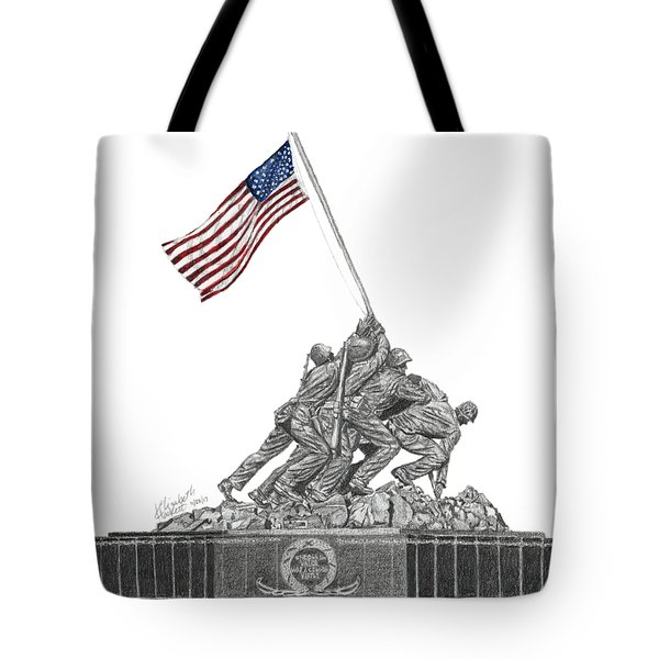 Marine Corps War Memorial - Iwo Jima Tote Bag