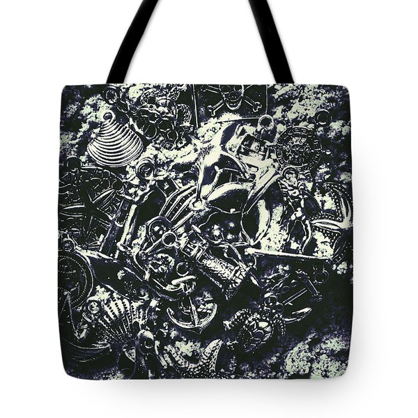 Marine Elemental Abstraction Tote Bag