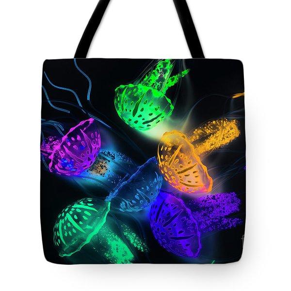 Marine Glow Tote Bag