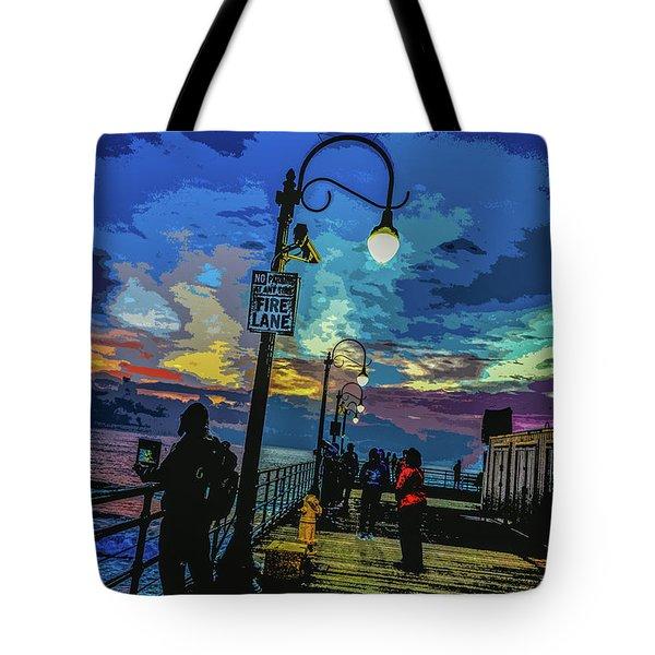Marine's Silhouette  Tote Bag