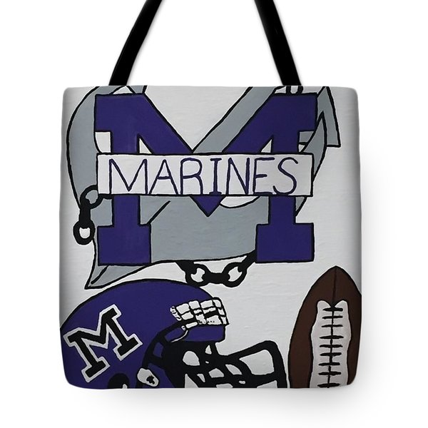 Marinette Marines. Tote Bag
