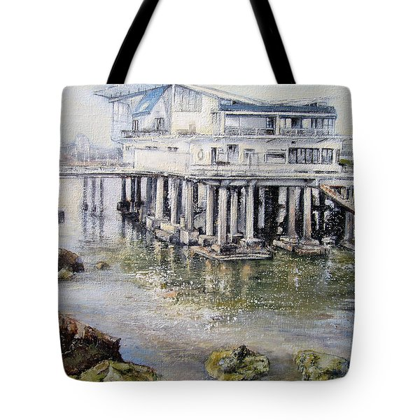 Maritim Club Castro Urdiales Tote Bag by Tomas Castano