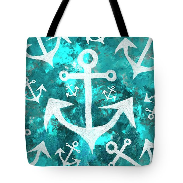 Maritime Anchor Art Tote Bag
