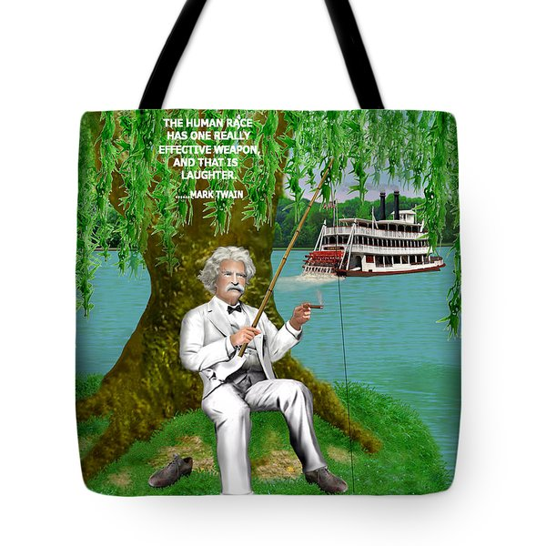 Mark Twain On The Mississippi Tote Bag