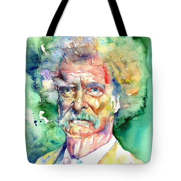 Mark Twain Watercolor Tote Bag