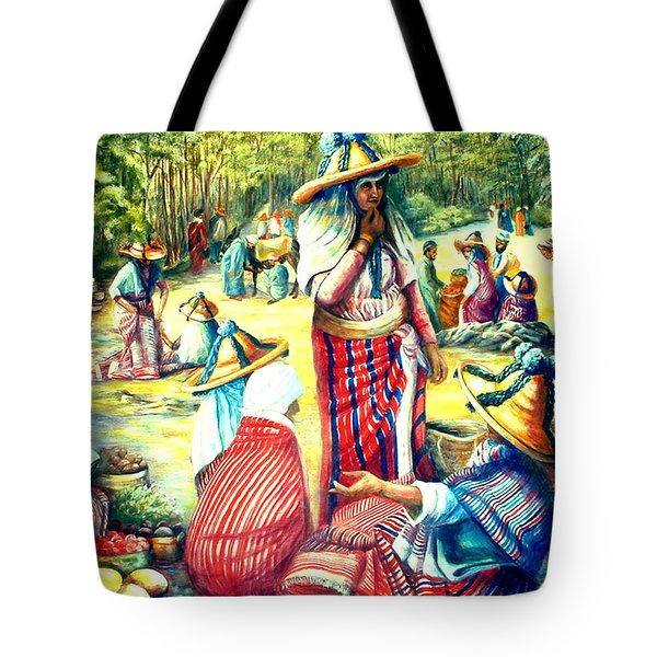 Market At Chefchaoen Morocco Tote Bag