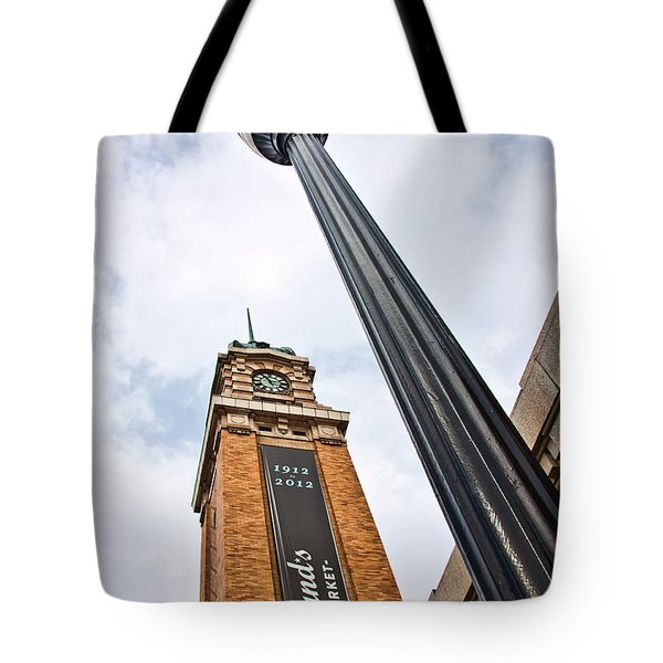 Market Clock Tower Tote Bag