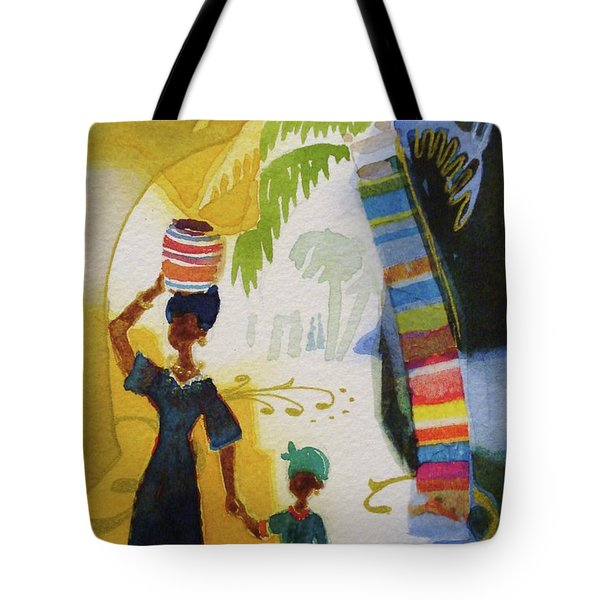 Market Day Tote Bag by Marilyn Jacobson