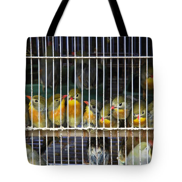 Market Finches Tote Bag