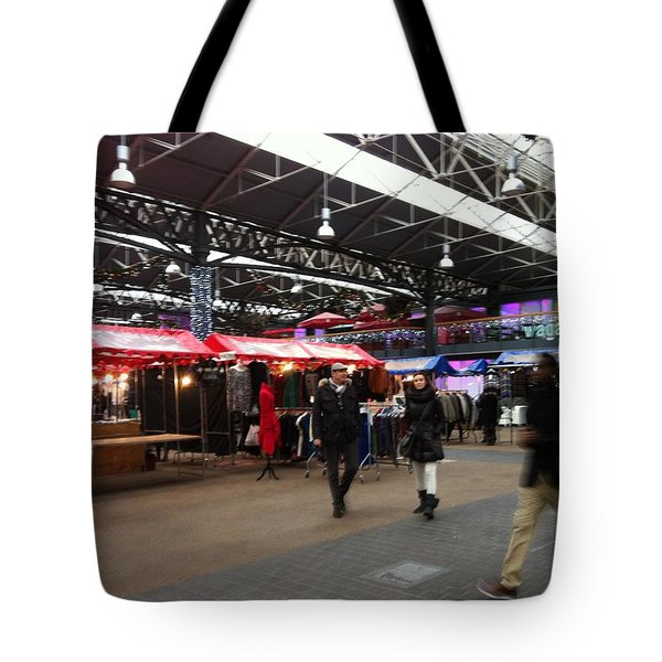 Tote Bag featuring the photograph Market Movement by Christin Brodie