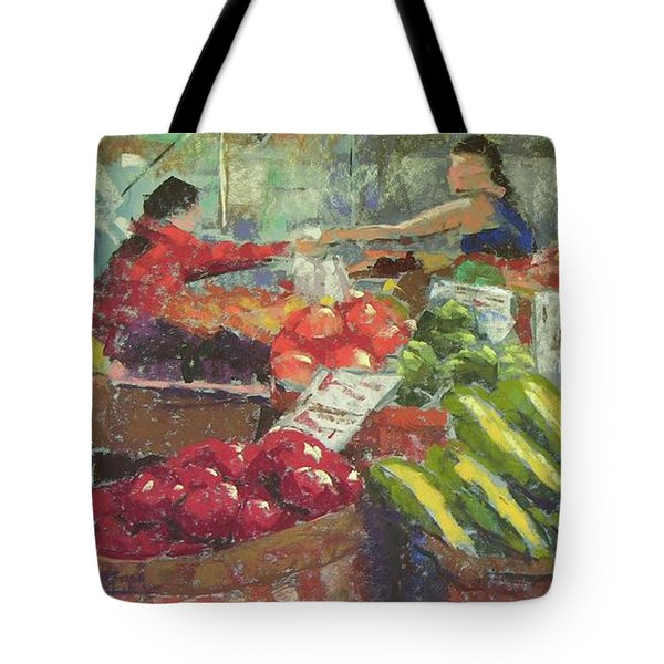 Market Stacker Tote Bag by Mary McInnis