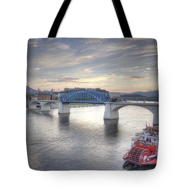 Market Street Bridge Tote Bag by David Troxel