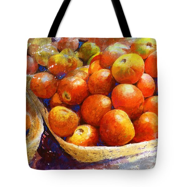 Market Tomatoes Tote Bag by Andrew King