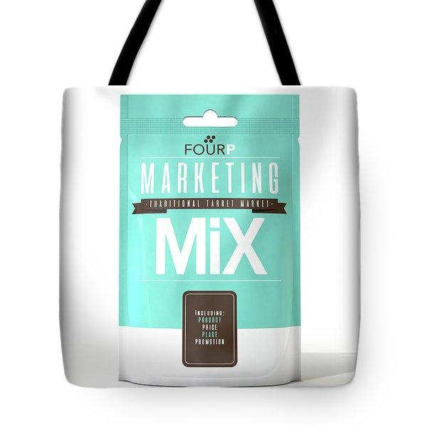Marketing Mix 4 P's Tote Bag