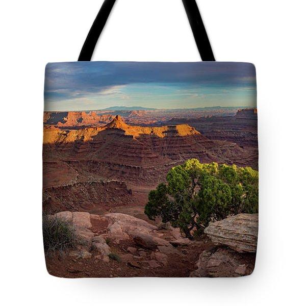 Marlboro Point Sunset Panorama Tote Bag