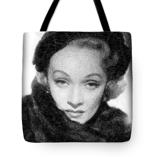 Marlene Dietrich, Vintage Actress By Js Tote Bag