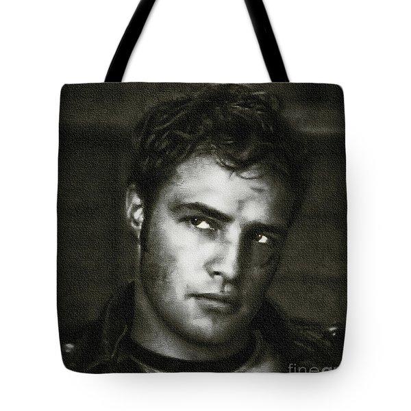 Marlon Brando - Painting Tote Bag