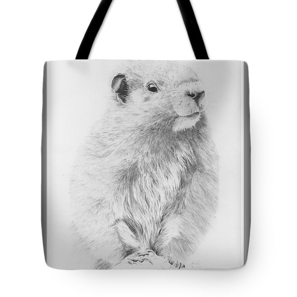 Marmot Tote Bag by Glen Frear