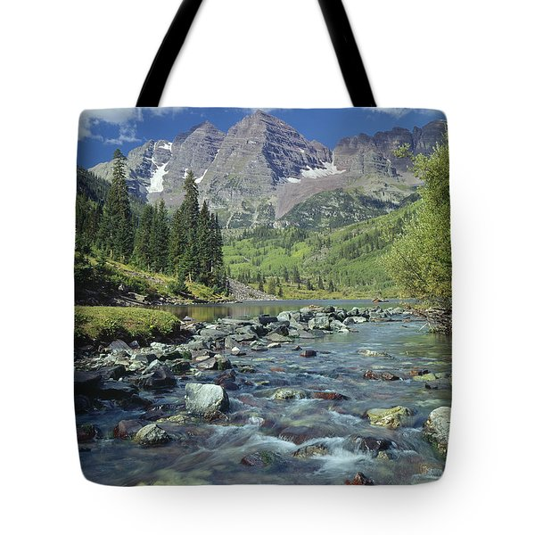 210404-maroon Bells And Creek  Tote Bag