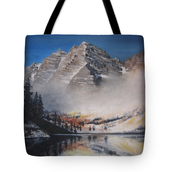 Maroon Bells Tote Bag by Barbara Prestridge