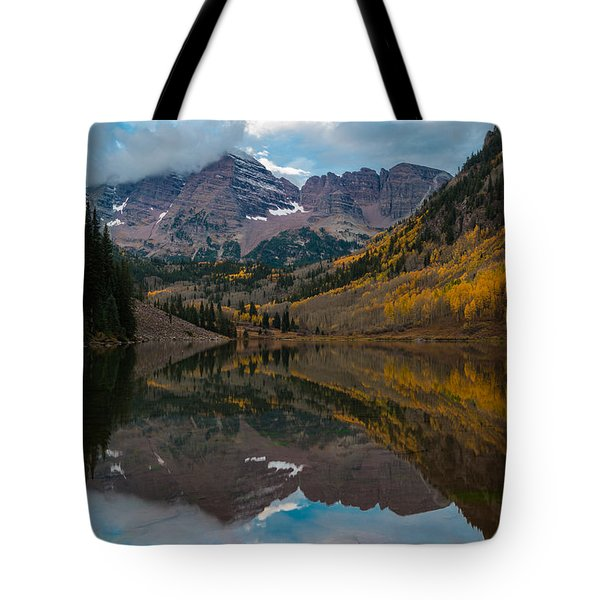 Tote Bag featuring the photograph Maroon Bells by Gary Lengyel