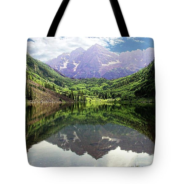 Tote Bag featuring the photograph Maroon Bells  by Jerry Battle