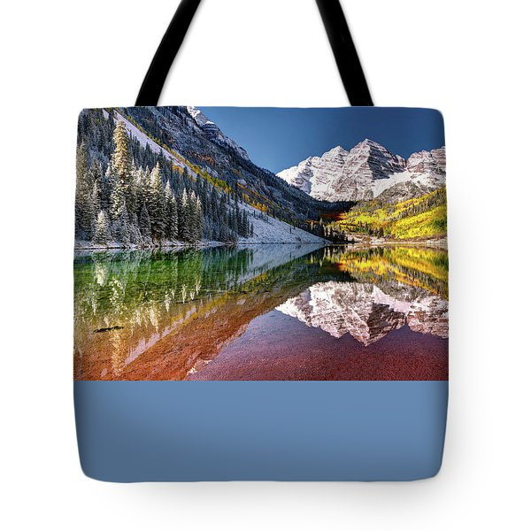 Maroon Bells At Dawn Tote Bag