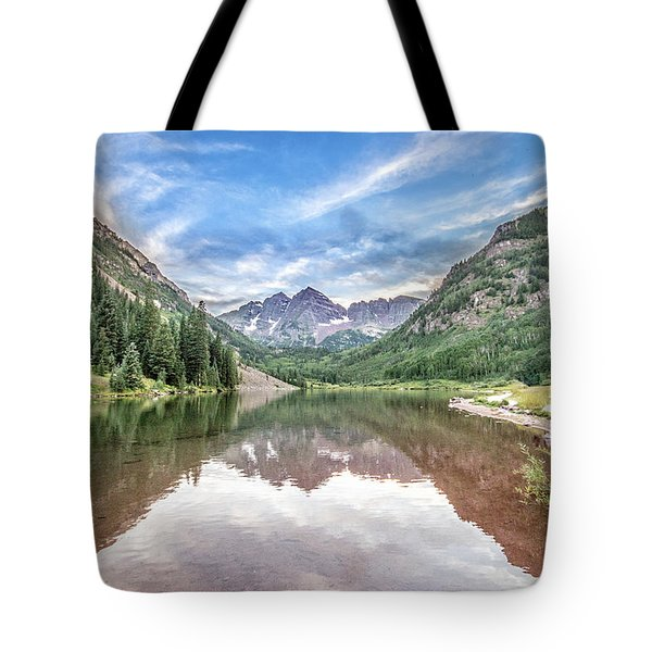 Maroon Bells Near Aspen, Colorado Tote Bag by Peter Ciro