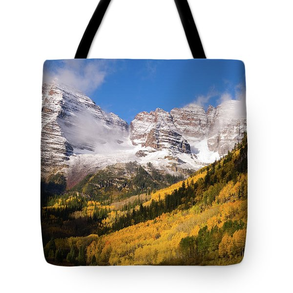 Tote Bag featuring the photograph Maroon Bells by Steve Stuller