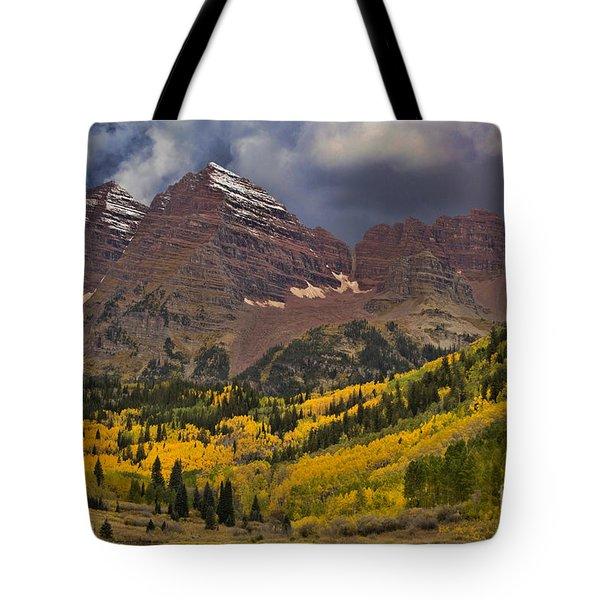 Maroon Bells Tote Bag by Steven Parker