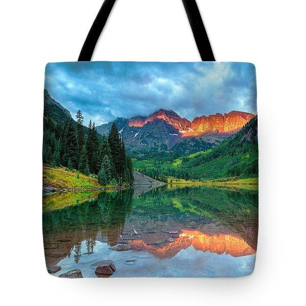 Maroon Bells Sunrise Tote Bag