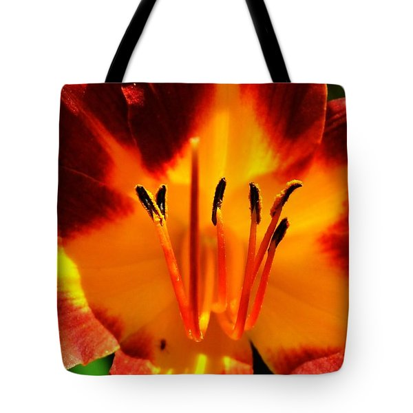 Maroon Lily Tote Bag