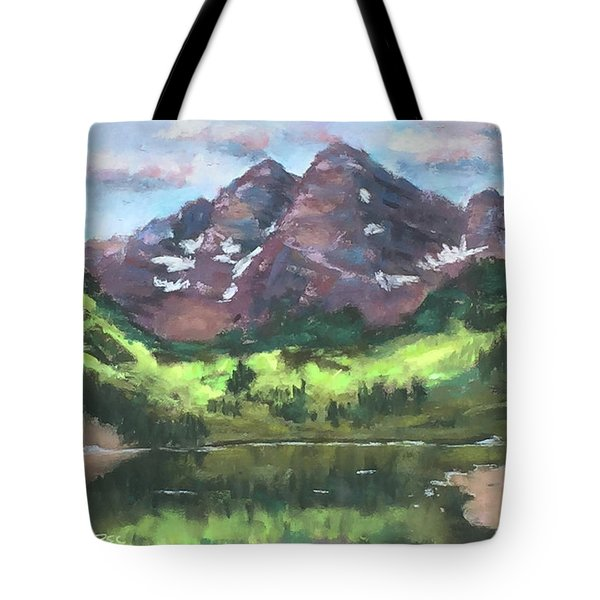Maroon Reflections Tote Bag