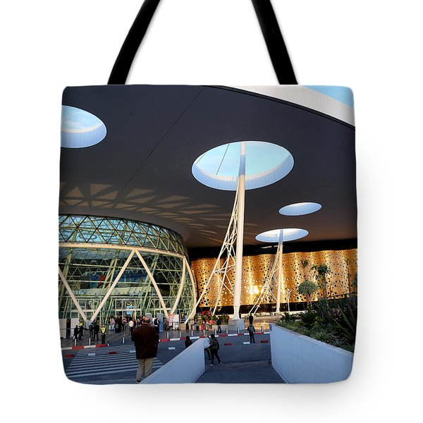 Tote Bag featuring the photograph Marrakech Airport 2 by Andrew Fare