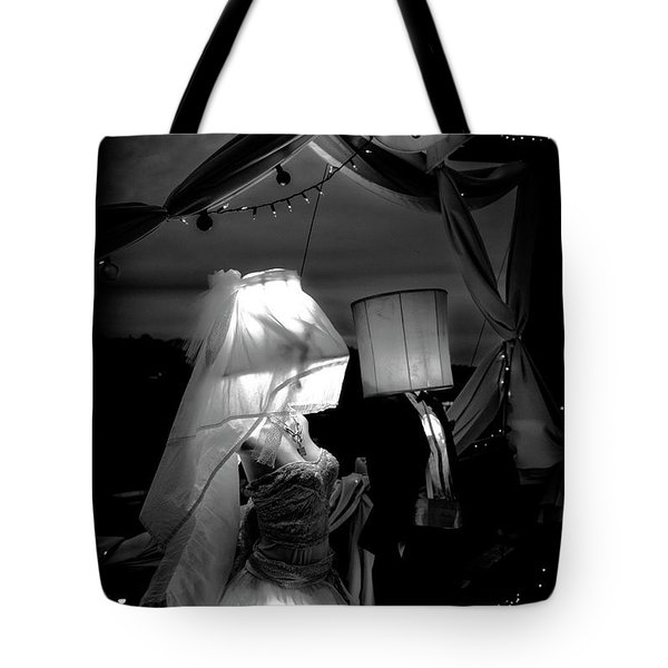 Tote Bag featuring the photograph Marriage Of Darkness And Light by Alan Raasch