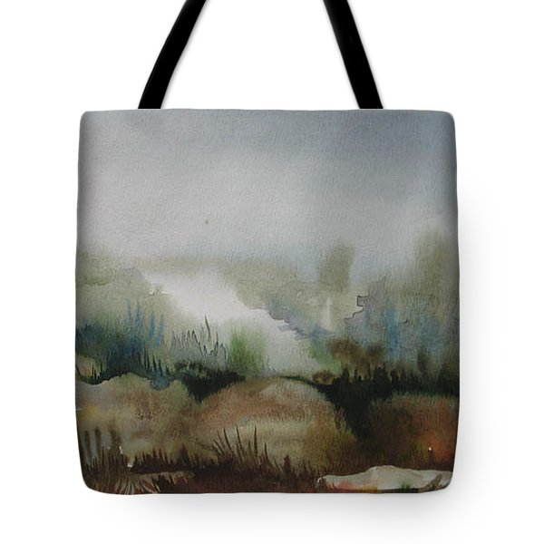 Tote Bag featuring the painting Marsh by Anna  Duyunova