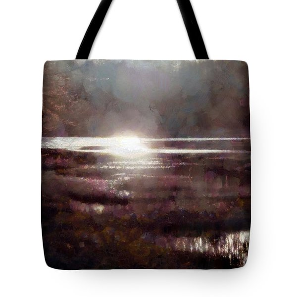 Tote Bag featuring the photograph Marsh Moods - At The End Of The Day - Vertical by Janine Riley
