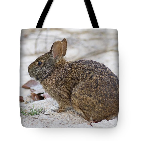 Marsh Rabbit On Dune Tote Bag