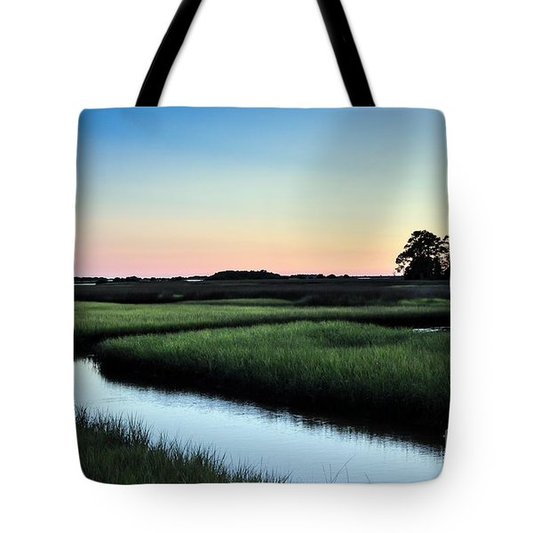 Marsh Sunset Tote Bag