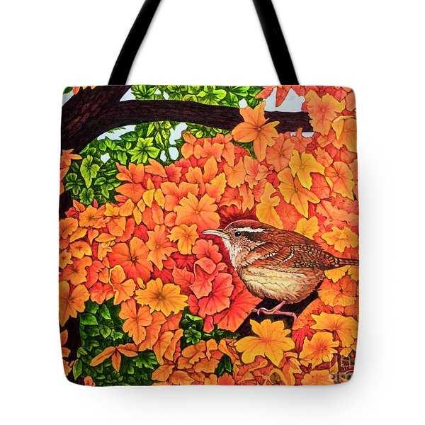 Marsh Wren Tote Bag by Michael Frank