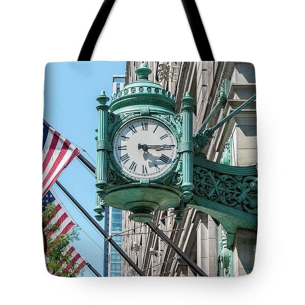 Marshall Field's Clock Tote Bag