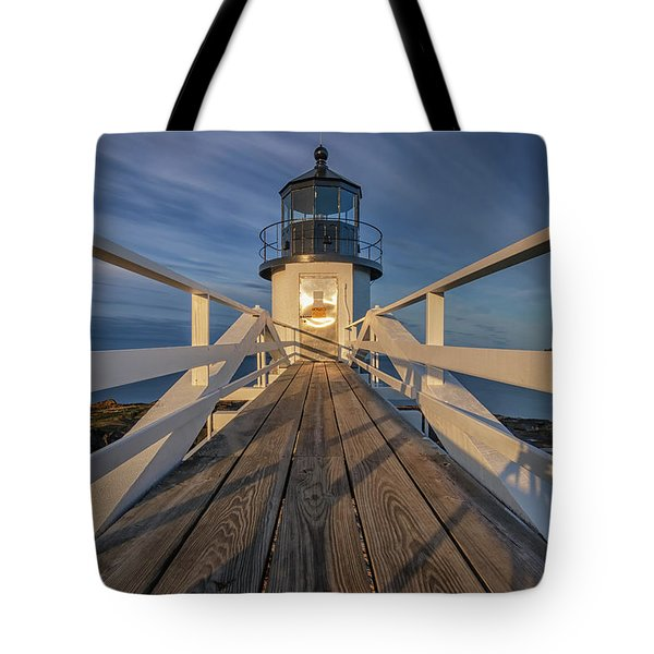 Marshall Point Lighthouse At Sunrise Tote Bag