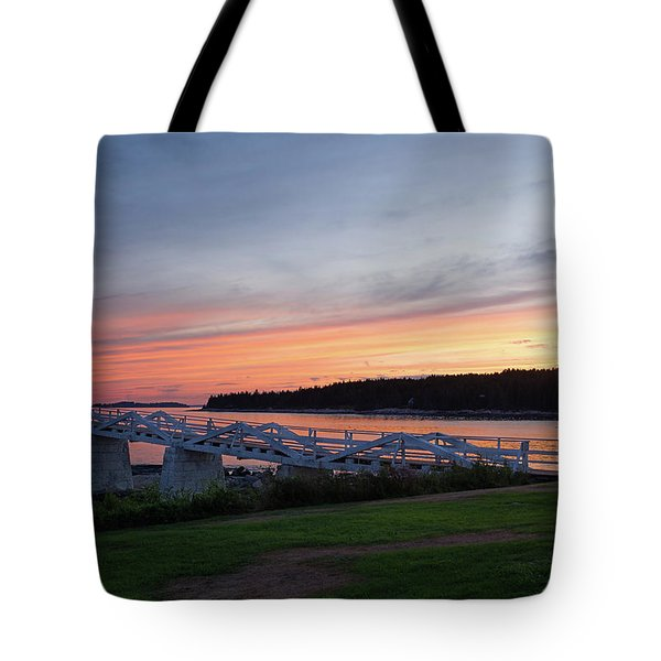 Marshall Point Lighthouse, Port Clyde, Maine -87444 Tote Bag