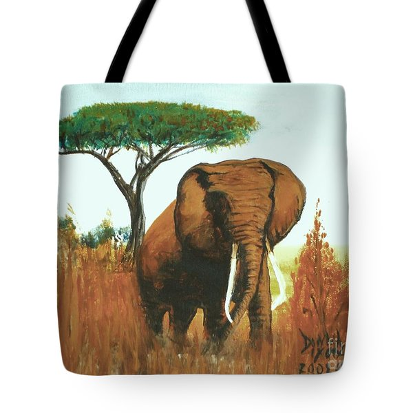 Marsha's Elephant Tote Bag by Donna Dixon
