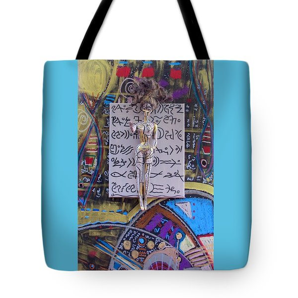 Tote Bag featuring the painting Marshmallow Herbal Tincture by Clarity Artists